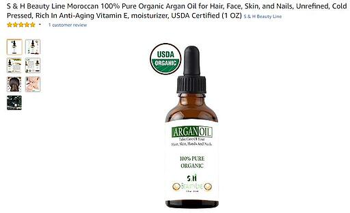 Amazon title argan oil