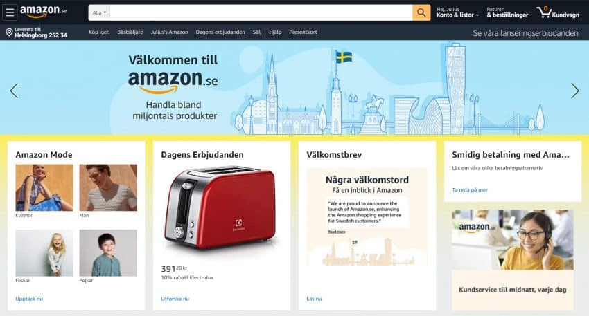 Amazon In Sweden Launch Of Amazon Se To Build Nordic Precense