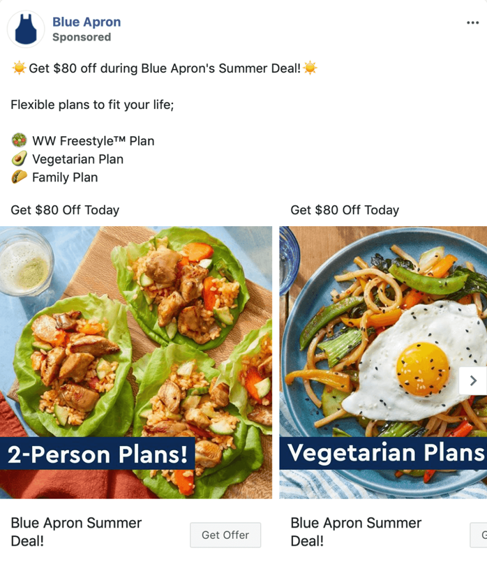 blue apron facebook