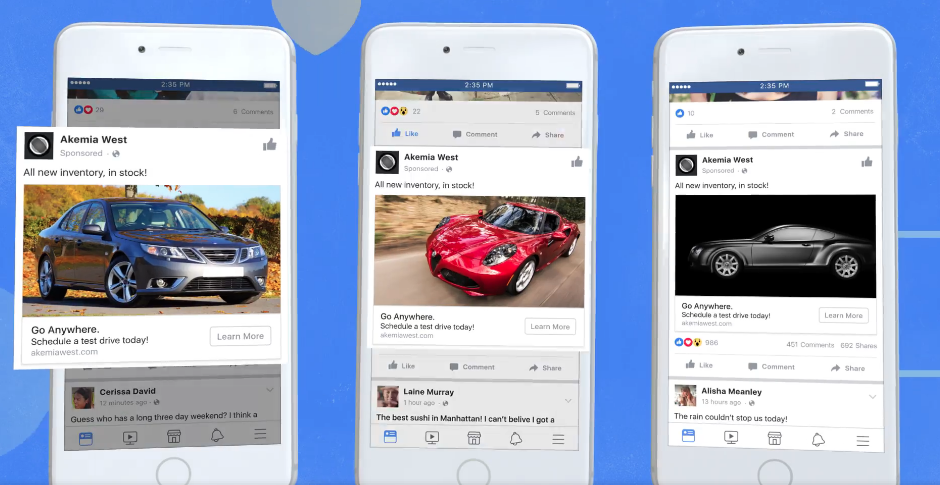 facebook aotomotive ads