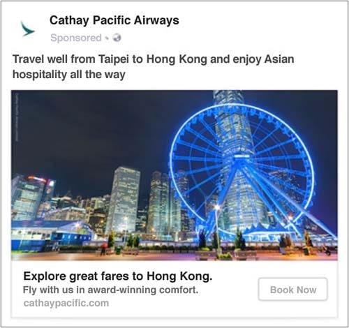 facebook travel ad