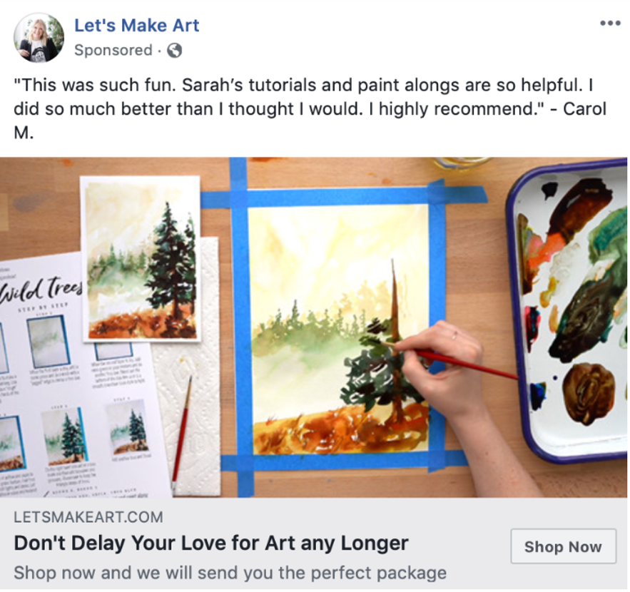 lets make art facebook