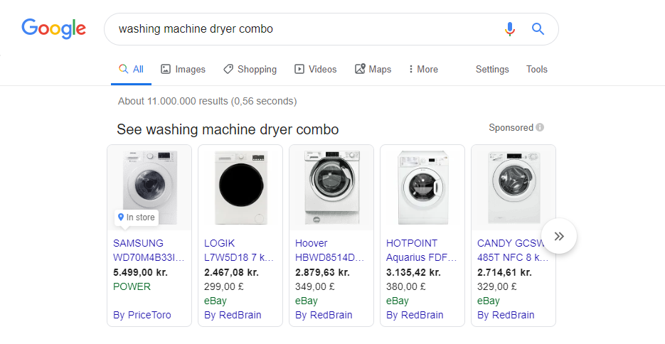 washing machine google manufacturer center