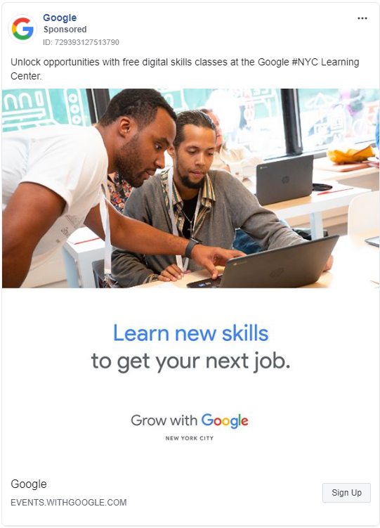 google-facebook-ad