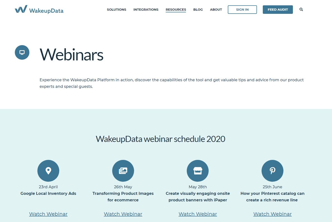 webinars screenshot