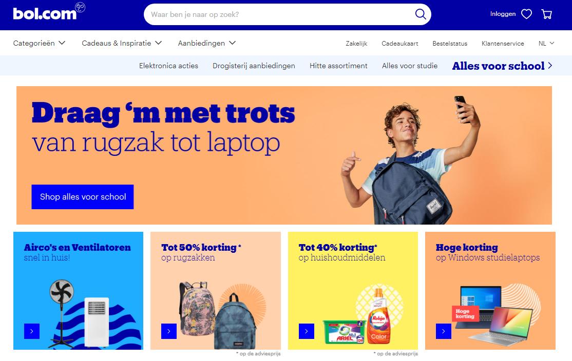 bol.com homepage