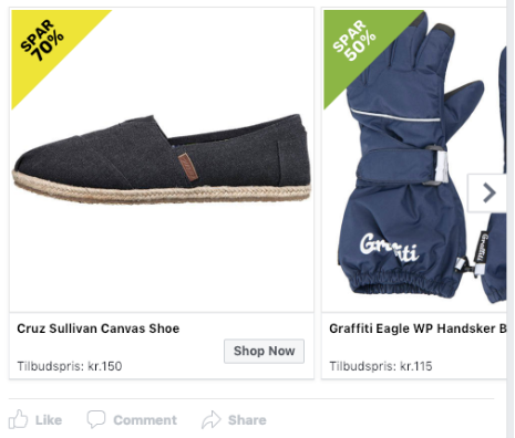 anonym screenshot Facebook ads