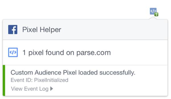facebook pixel helper successful