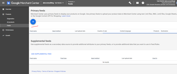 creating your feed in Google Merchant Center 1