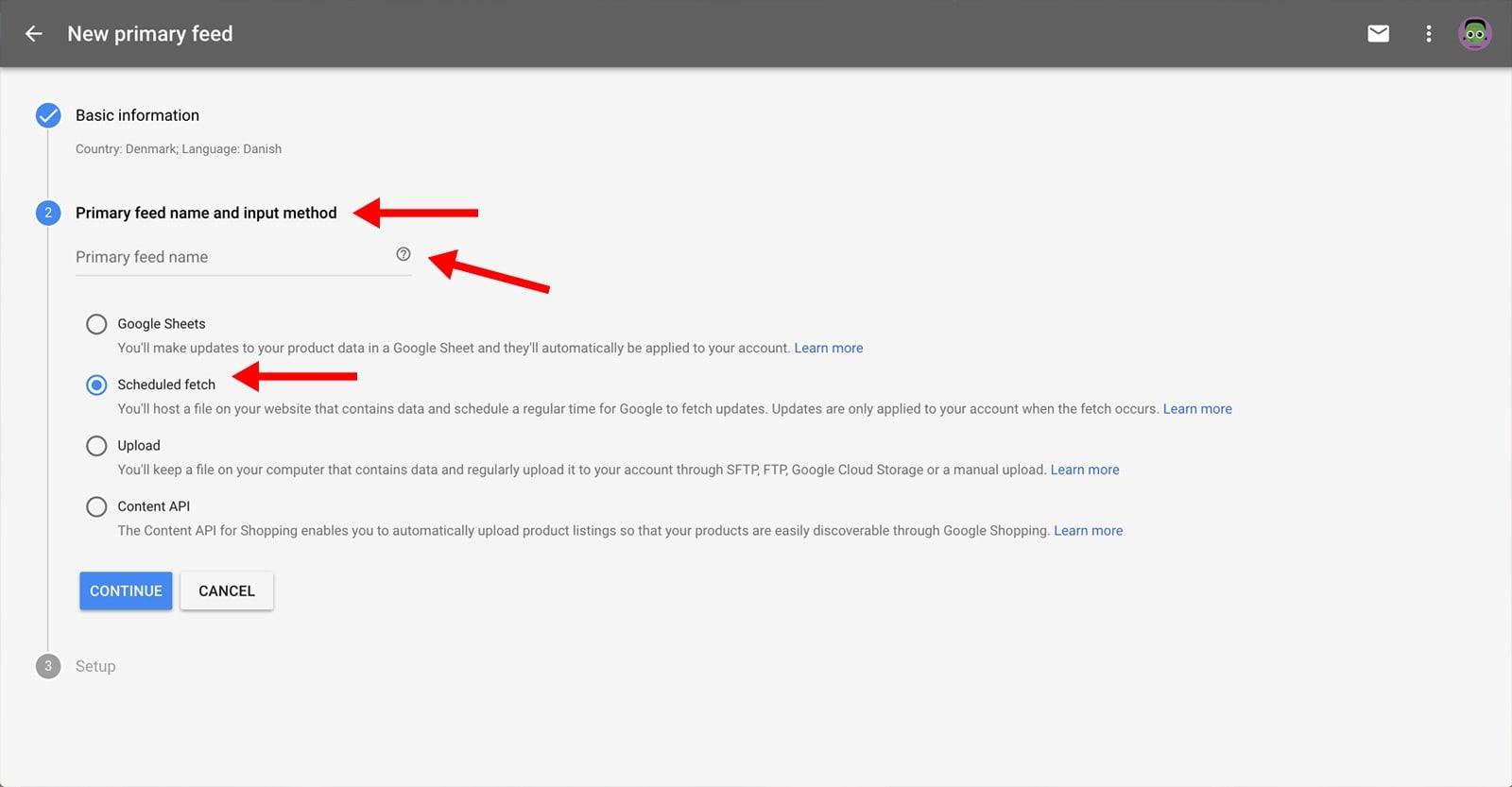 Google Merchant Center with WakeupData