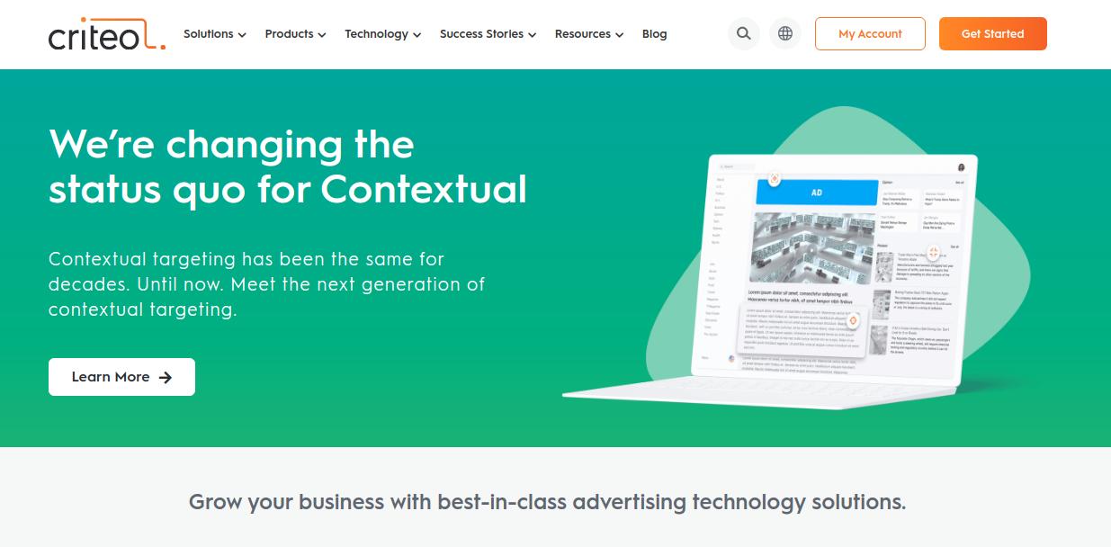 Criteo home page